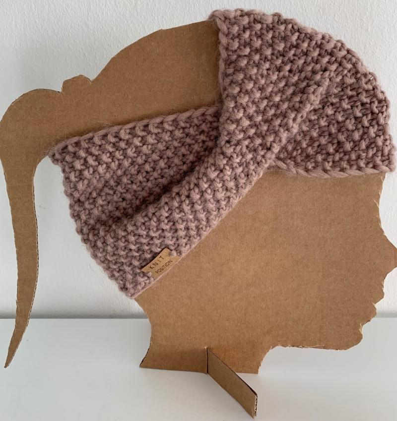 Kleinesbild - FLIEDERFEE - weiches Stirnband in der Trendfarbe MAUVE