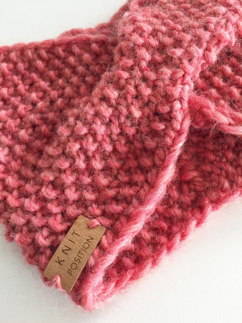 Kleinesbild - HERMIA - gestricktes Stirnband im wundervollen Rosé-Ton