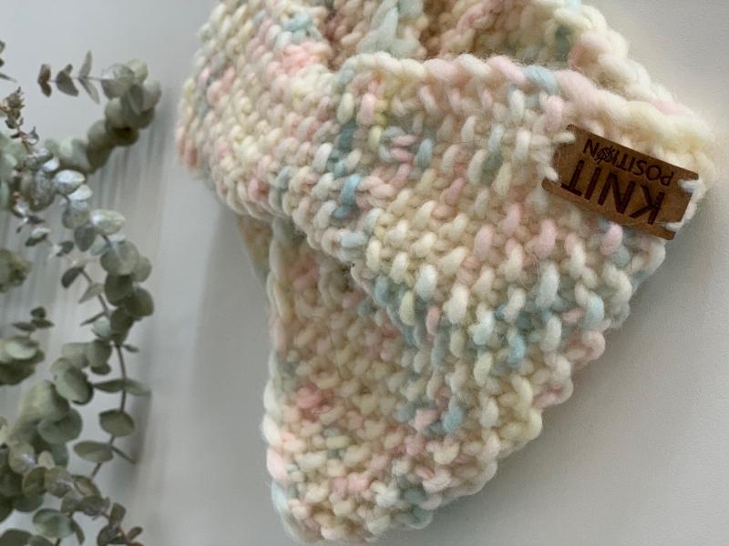 Kleinesbild - HERMIA - gestricktes Stirnband in wundervollen Pastelltönen