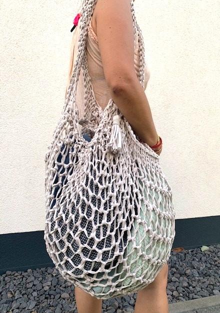 Kleinesbild - ★Tasche aus recyceltem Stoff: Raumwunder-Tasche mit viel Platz, dehnbar, platzsparend verstaubar. Jede Tasche ist ein UNIKAT ★
