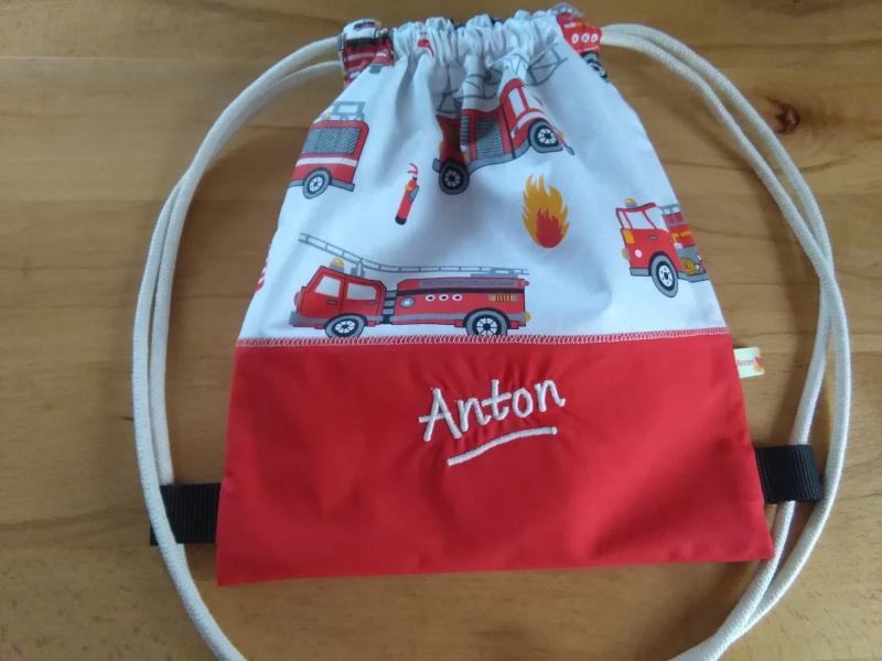 - Turnbeutel für Kinder und Zwerge, Motiv:  Feuerwehr Autos - Turnbeutel für Kinder und Zwerge, Motiv:  Feuerwehr Autos