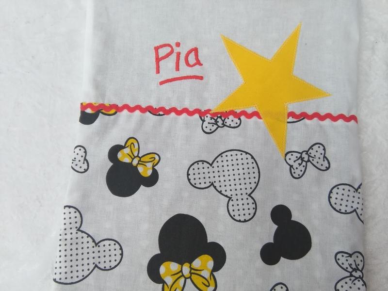 Kleinesbild - Kita-Tasche mit Namen, Kindergarten Beutel  , Motiv :  Mäuschen