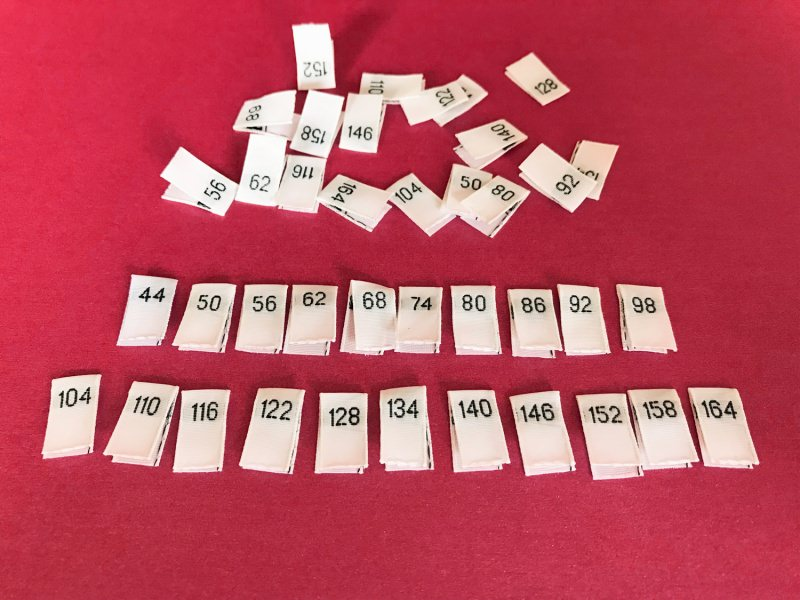-  10 Einzel - Größenetiketten für Kinder -  10 Einzel - Größenetiketten für Kinder