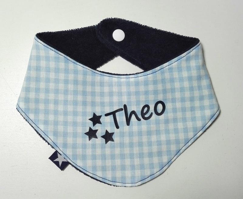Kleinesbild - Baby Halstuch mit Name oder Motiv☆Baby Sabberlätzchen✂Musterwahl☆Farbwahl☆Materialwahl✂