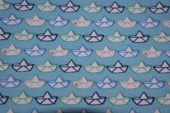 - 16,50€/m Jersey loveboat papercut, hellblau, Boote, - 16,50€/m Jersey loveboat papercut, hellblau, Boote,