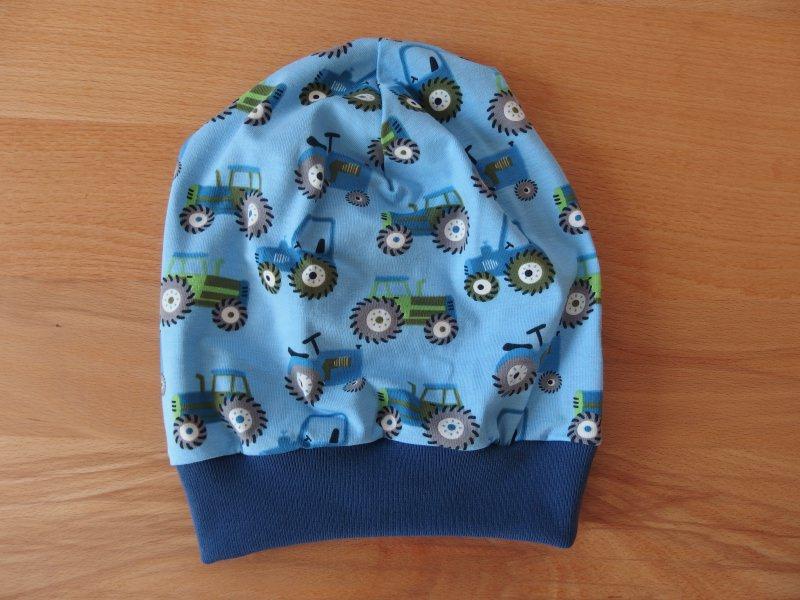 - Handgemachte Beaniemütze, Beanie, Mütze, Traktor, Jungen - Handgemachte Beaniemütze, Beanie, Mütze, Traktor, Jungen