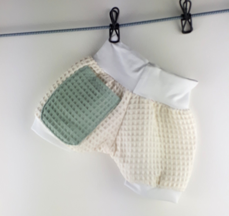 Kleinesbild - kurze Pumphose 56/62, Shorts, Babyhose, Kinderhose, Haremshose