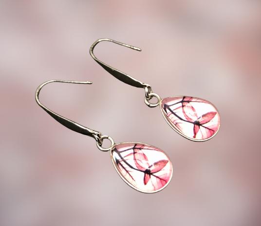 - Ohrhängerpaar, erstellt in Edelstahl, Tropfenform, etwas Besonderes für besondere Menschen - Ohrhängerpaar, erstellt in Edelstahl, Tropfenform, etwas Besonderes für besondere Menschen