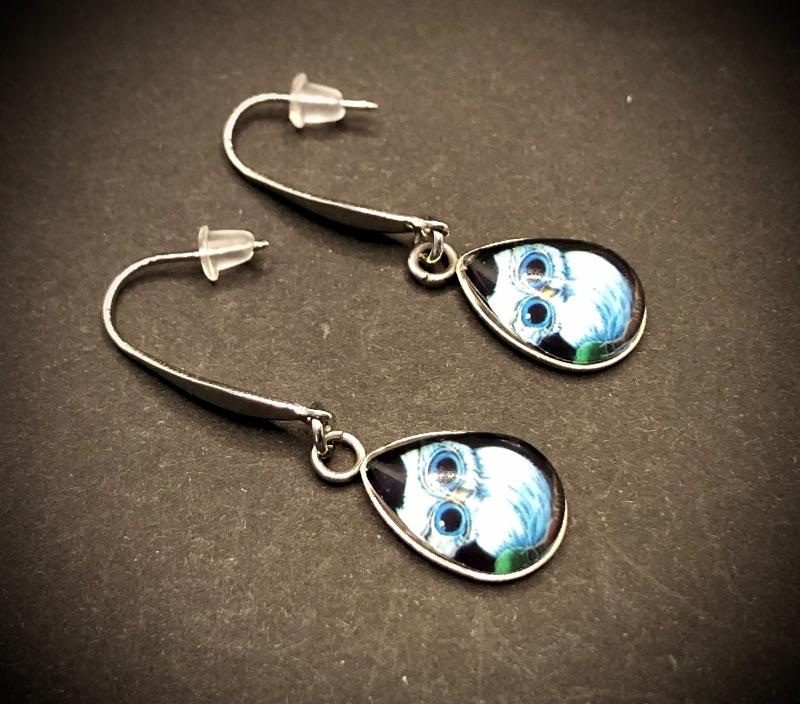 Kleinesbild - Ohrhängerpaar, erstellt in Edelstahl, Tropfenform, etwas Besonderes für besondere Menschen