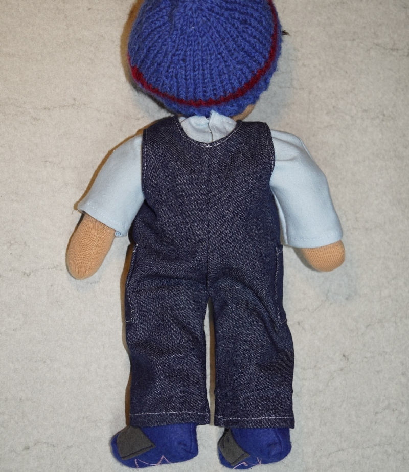 Kleinesbild - Stoffpuppe PEPE(Fußballspieler), Junge Puppe, 31 cm,  Handgemachtes Einzelstück