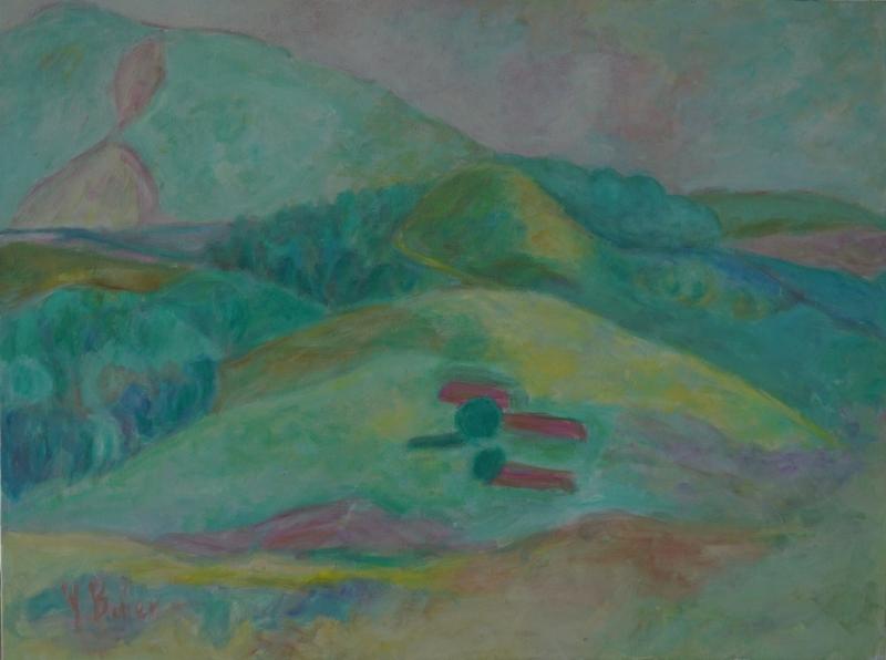 """- """"Landschaft, Bayrischzell"""" Original-Acrylmalerei auf Leinwand, handgefertigtes Kunstwerk - """"Landschaft, Bayrischzell"""" Original-Acrylmalerei auf Leinwand, handgefertigtes Kunstwerk"""