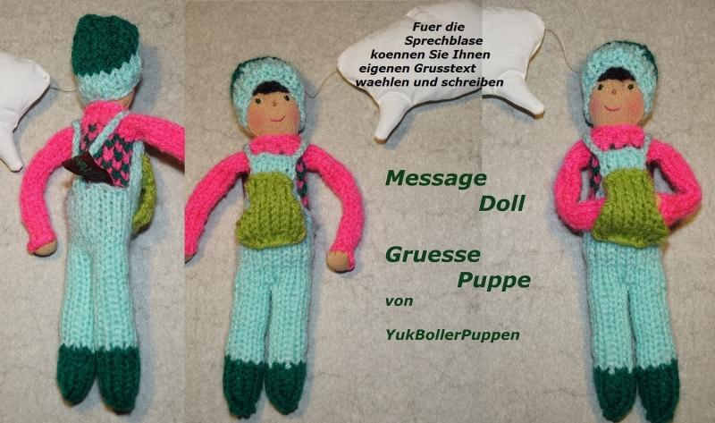 - Grüße Puppe PHILIPP, 18 cm, gestrickte kleine Puppe, Zum Verschenken, Zum Spielen  - Grüße Puppe PHILIPP, 18 cm, gestrickte kleine Puppe, Zum Verschenken, Zum Spielen