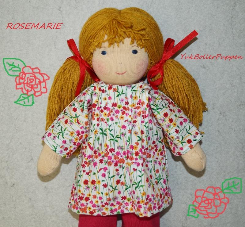 - Stoffpuppe ROSEMARIE(Blumen Rot)aus Naturmaterial , Handgemachtes Einzelstück - Stoffpuppe ROSEMARIE(Blumen Rot)aus Naturmaterial , Handgemachtes Einzelstück