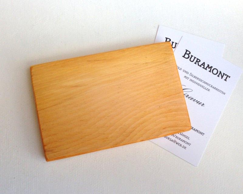 Visitenkartenetui Holz Zirbe Mod 3 Mit Gravur