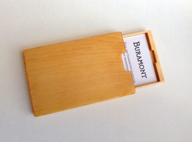 Wohnen Visitenkartenetui Holz Zirbe Mod 4 Mit Gravur