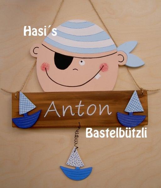 Kinder Kinderzimmer Turschild Pirat Aus Holz Namensschild
