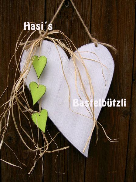 Kleinesbild -  ♡ Weißes Holz-Herz ♡ im Shabby Chic, Hochzeitsdeko