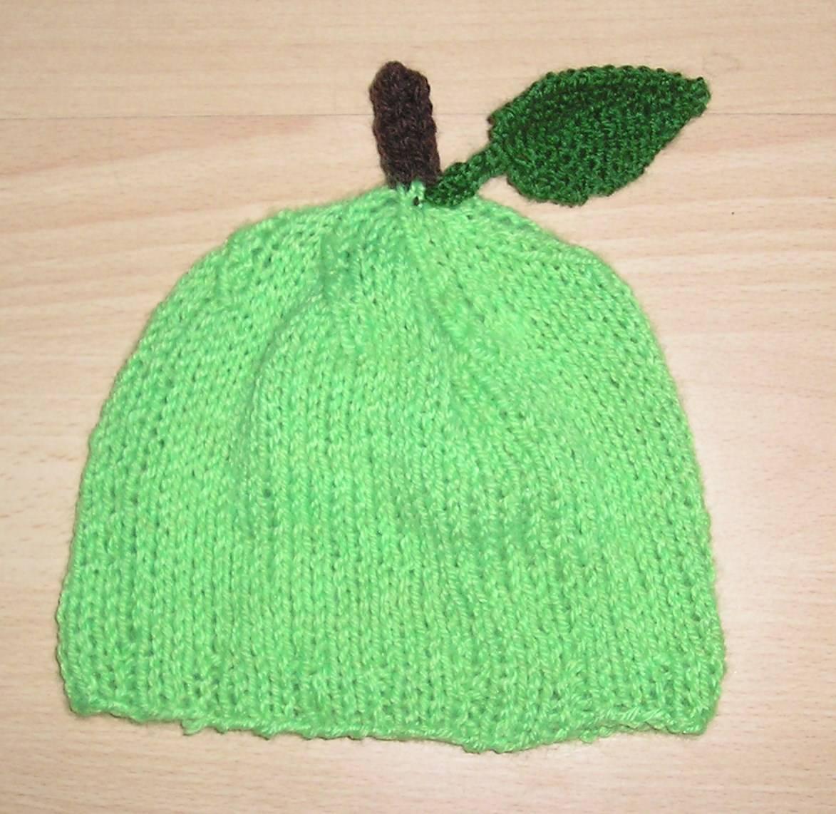 Kleinesbild - grüner Apfel Mütze ❀ Apfelmütze ❀