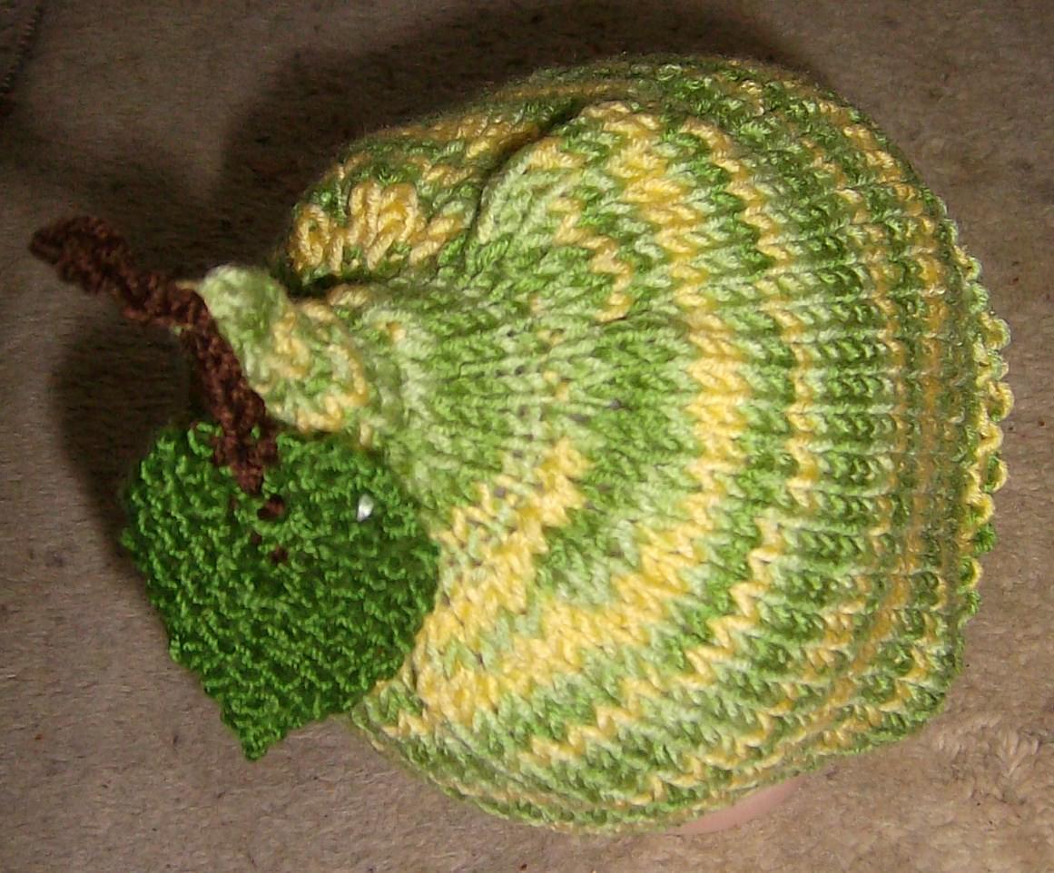 Kleinesbild - Birnenmütze Baby Übergangsmütze BIRNE 42-45cm