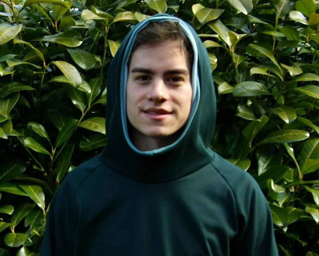 - leichter Hoodie JOHN  Baumwoll-Jersey  Kapuze Gr.M dunkelgrün  - leichter Hoodie JOHN  Baumwoll-Jersey  Kapuze Gr.M dunkelgrün