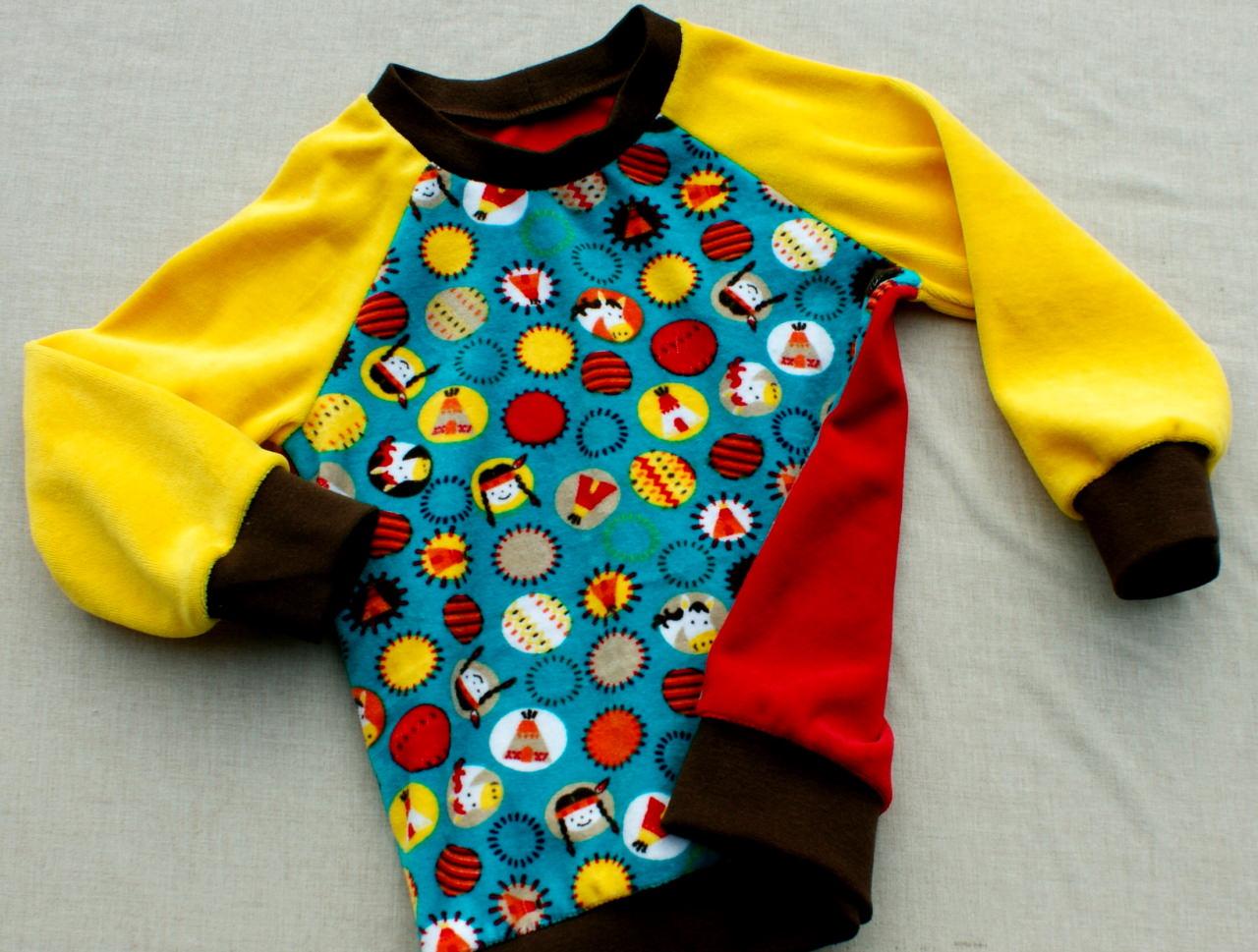 Kleinesbild - Pullover Nicki  INDIANER MÄDCHEN  Gr. 92/98