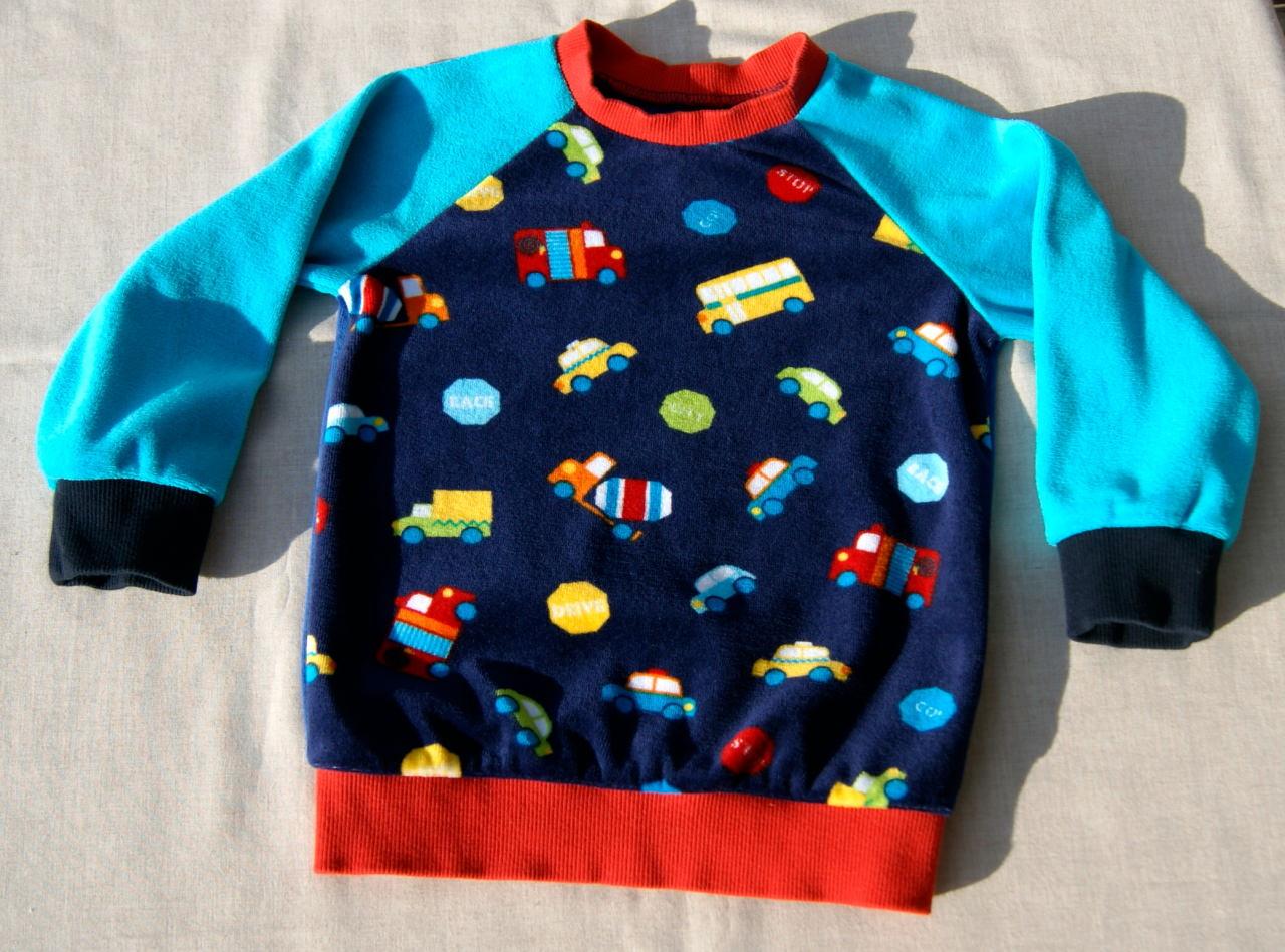 - Pullover Nicki  AUTOS  Gr.86/92 Baumwolle bunt - Pullover Nicki  AUTOS  Gr.86/92 Baumwolle bunt