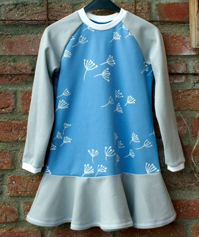 Kleinesbild - Mädchen - Kleid PUSTEBLUME  blau Ökotex Gr.104