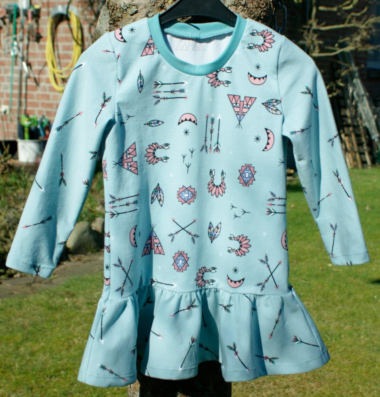 Kleinesbild - Mädchen - Kleid INDIANER-PRINZESSIN hell mint Gr.104