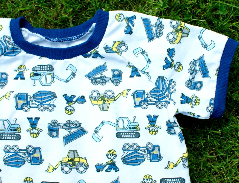 - Shirt BAUMEISTER  für Jungen Gr. 80/86 weiß bunt Fahrzeug Baumwolle Jersey   - Shirt BAUMEISTER  für Jungen Gr. 80/86 weiß bunt Fahrzeug Baumwolle Jersey