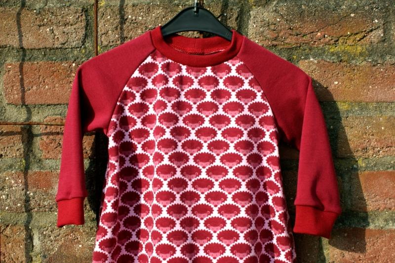 Kleinesbild - Baby Kleid KLEINE IGEL rot Bio-Baumwolle Gr.80
