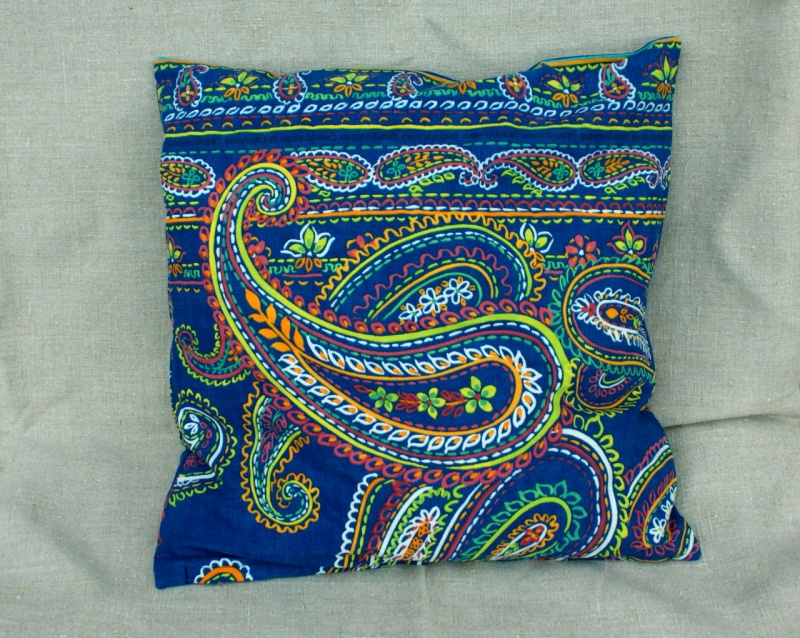 Kleinesbild - Kissenbezug PAISLEY blau 40x40 cm Bassetti-Stoff Reißverschluss  Baumwolle royalblau bunt