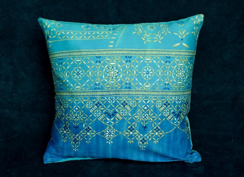 Dekoration : Kissenbezug BEETLI türkis blau 40x40 cm Bassetti-Stoff ...