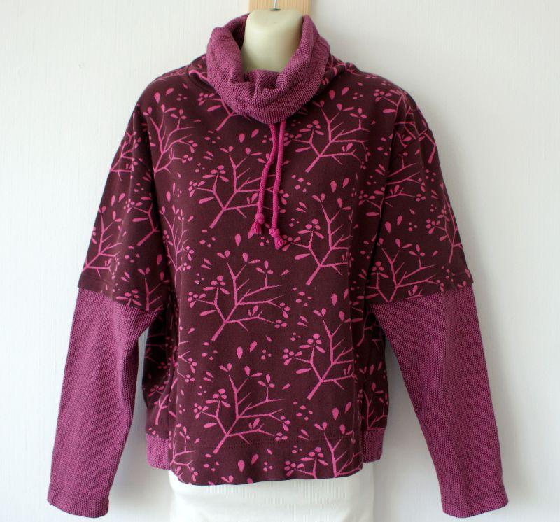 Kleinesbild - Pullover DAXI Langarm Bio-Baumwolle GOTS Gr.L  bordeaux  leger