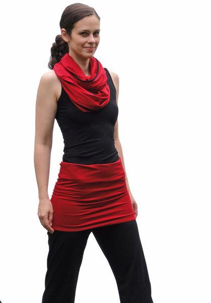 Kleinesbild - Schal der vielen Möglichkeiten No. 3 kontrastfarbig eingefasst