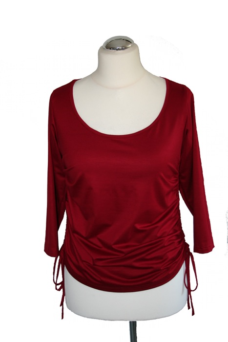 - Sexy-C-Shirt No.2 raffbar mit 3/4 Arm aus Viskose - Sexy-C-Shirt No.2 raffbar mit 3/4 Arm aus Viskose