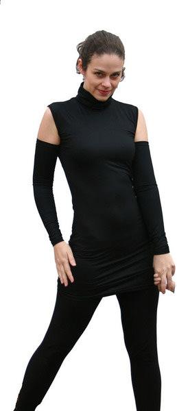 Kleinesbild - Basic Armstulpen extra lang aus Viskosejersey in schwarz