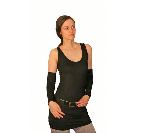 - Basic Armstulpen aus Viskosejersey in schwarz - Basic Armstulpen aus Viskosejersey in schwarz