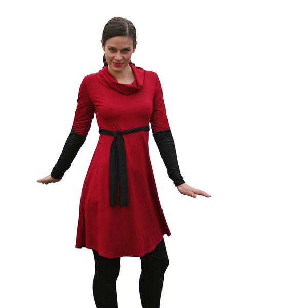 Kleinesbild - Tunika-Mini-Kleid Medi-C-Rolli mit 3/4 Ärmeln LG95