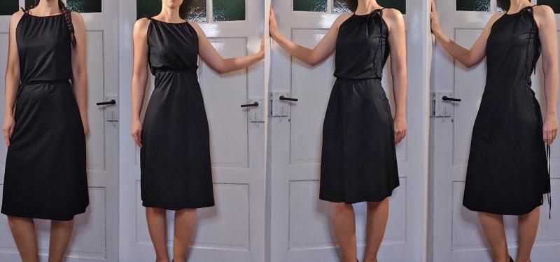 Kleinesbild - Kleid der vielen Möglichkeiten mit Tunnelzug Sommerkleid aus Viskosejersey LG 105