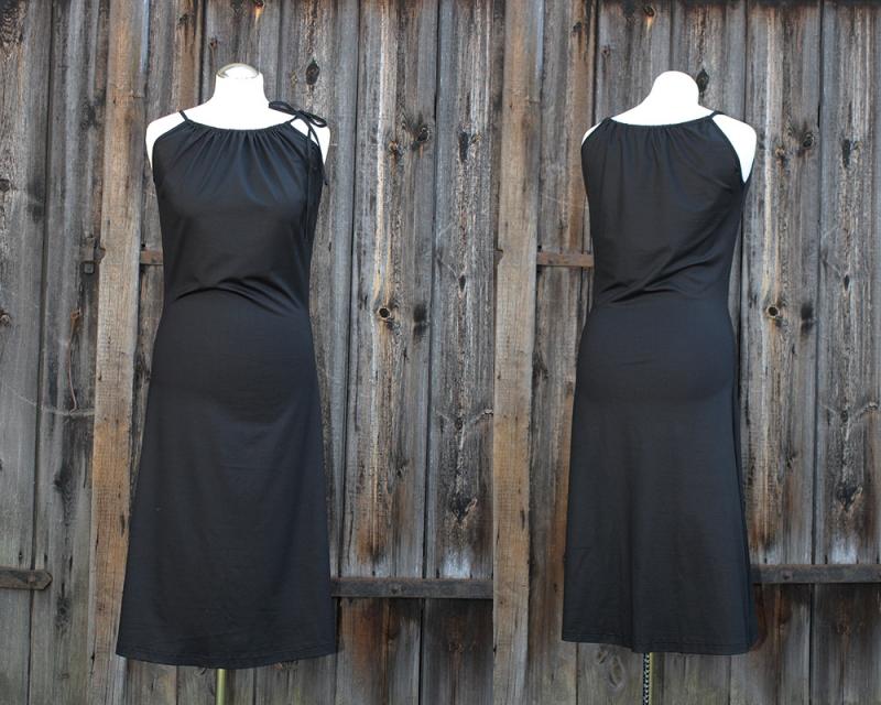 - Kleid der vielen Möglichkeiten mit Tunnelzug Sommerkleid aus Viskosejersey LG 105 - Kleid der vielen Möglichkeiten mit Tunnelzug Sommerkleid aus Viskosejersey LG 105