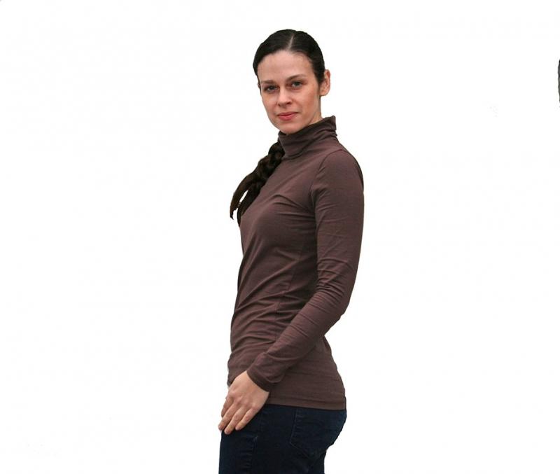 Kleinesbild - Rolli Shirt Langarm aus BioBaumwolle extra lang