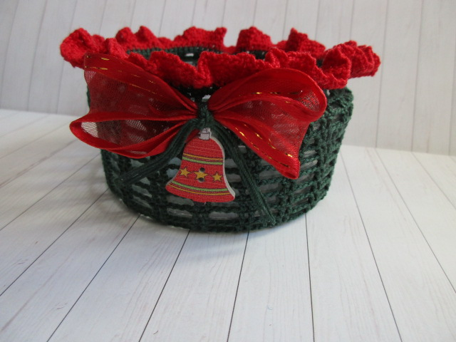 Kleinesbild - Windlicht, Teelicht, Schale, Weihnacht, Vintage, Shabby-Look, gehäkelt