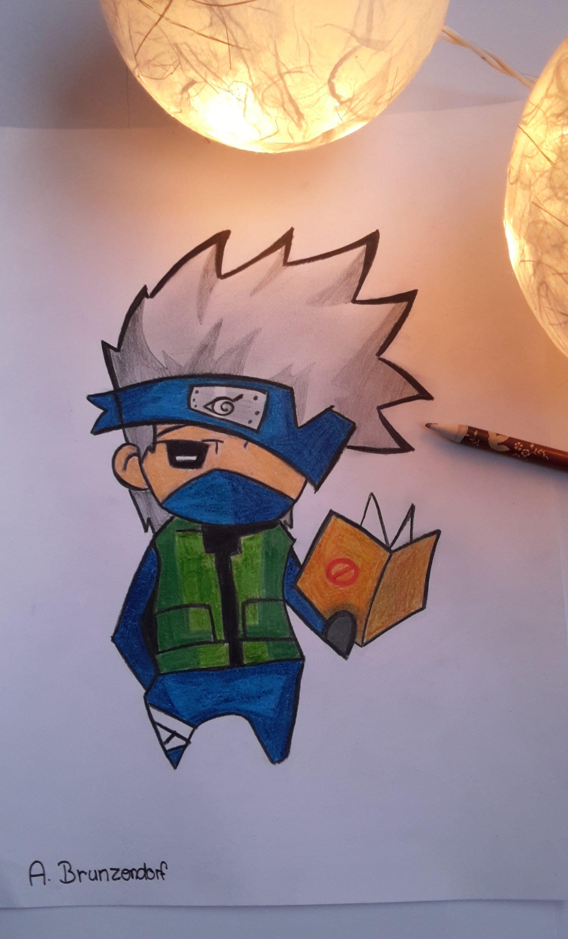Kunst Selbstgezeichnete Anime Mangafigur