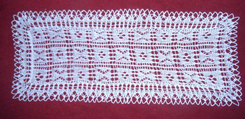 Wohnen Tischdecke Rechteckig 56 X 22 Cm Weiß Deckchen Läufer