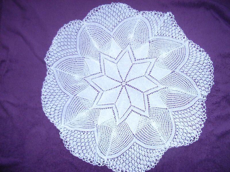 Wohnen Tischdecke Rund 71 Cm Weiß Wunderschönes Muster