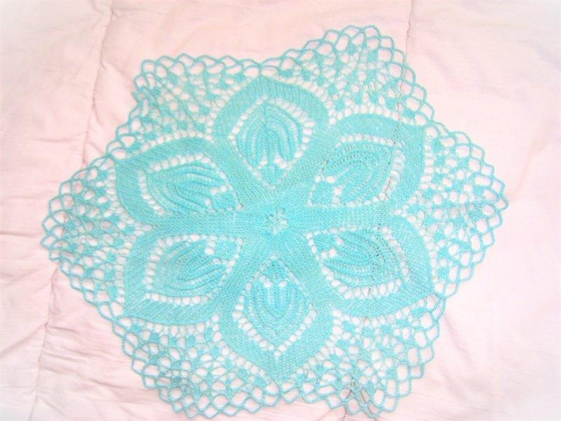 - * sommerliche Tischdecke *  32 cm hellblau für alle die Farben lieben   wunderschönes Muster   Deckchen  bringt Farbe ins Leben - * sommerliche Tischdecke *  32 cm hellblau für alle die Farben lieben   wunderschönes Muster   Deckchen  bringt Farbe ins Leben
