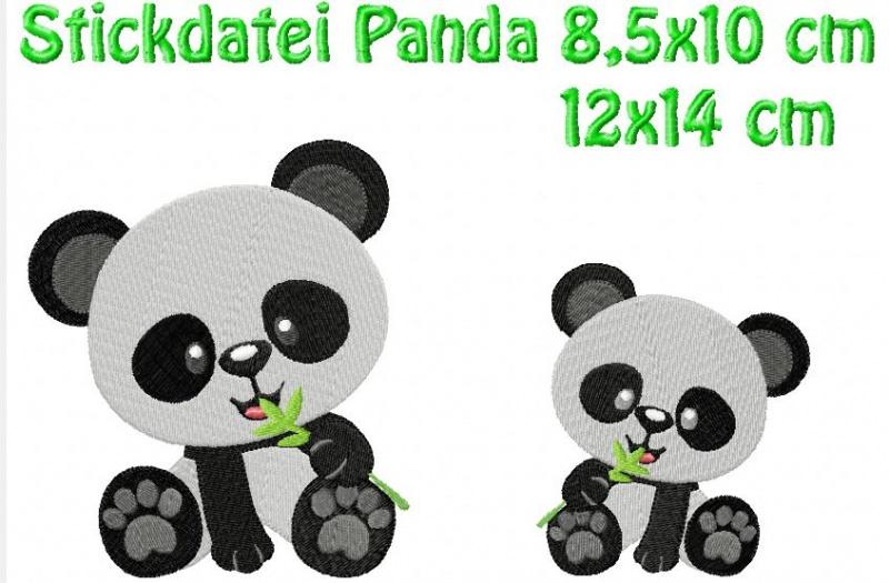 - Stickdatei Pandabären 9x10 cm 13x14 cm zum besticken von Handtüchern, TShirts  - Stickdatei Pandabären 9x10 cm 13x14 cm zum besticken von Handtüchern, TShirts