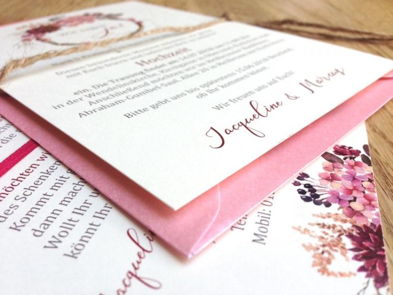 Kleinesbild - Hochzeitseinladung watercolor