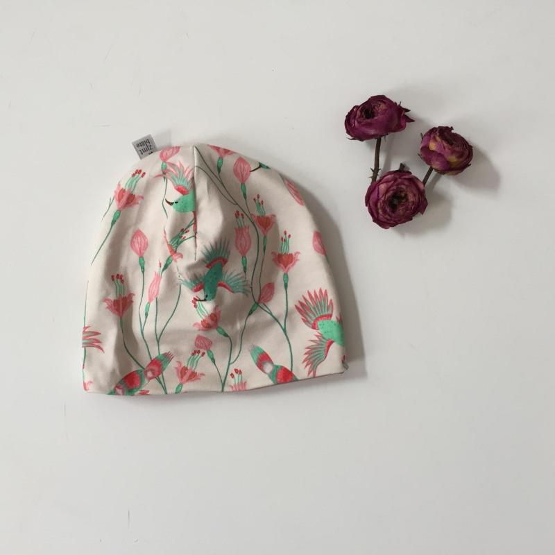 Kleinesbild - 2teil. NeugeborenenSet * KOLIBRI * Halstuch u. Mütze für Mädchen
