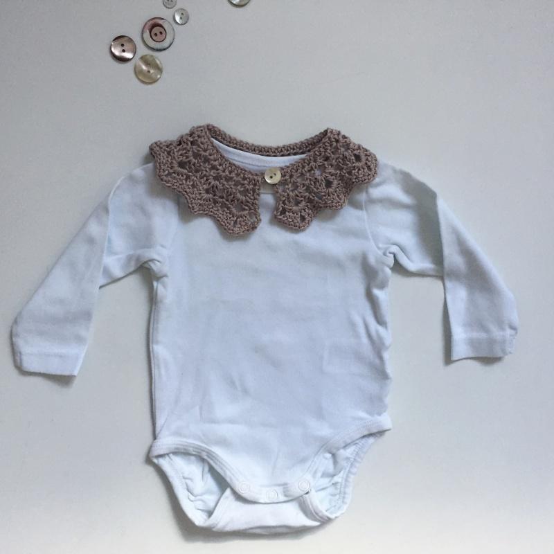 Kleinesbild - SPITZENKRAGEN Baby Kind für festliche Anlässe gehäkelt in Handarbeit vom zimtbienchen